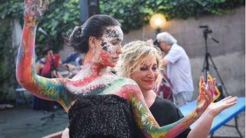performance live di Body Art di Francesca Guidi